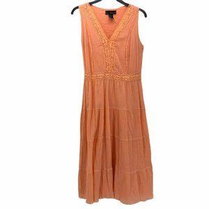 Mlle Gabrielle Womens Pheasant Dress Orange 8